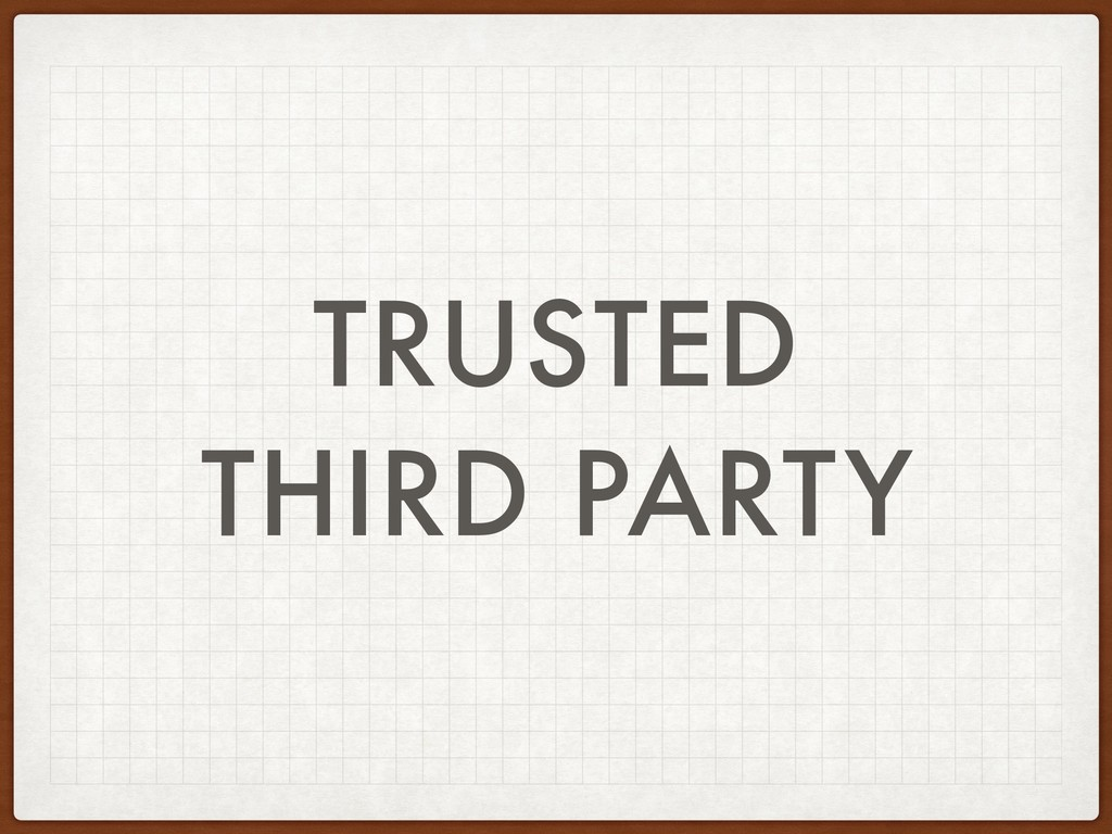 TRUSTED THIRD PARTY