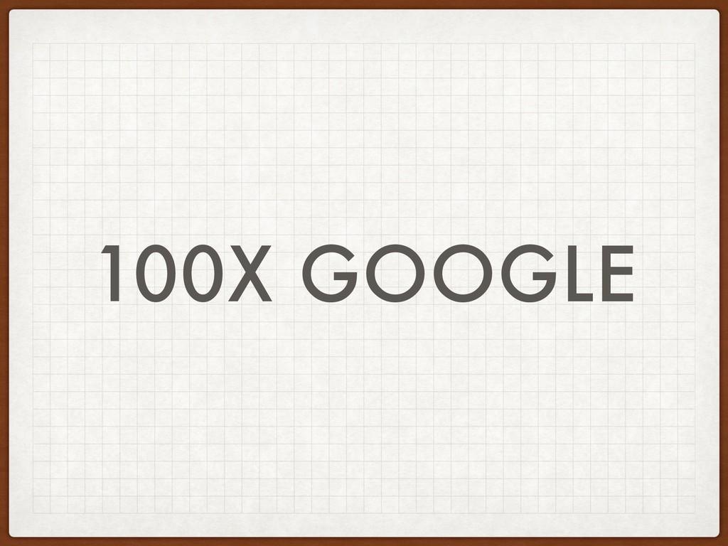 100X GOOGLE