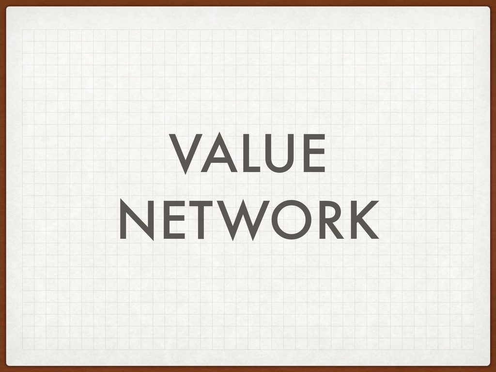 VALUE NETWORK