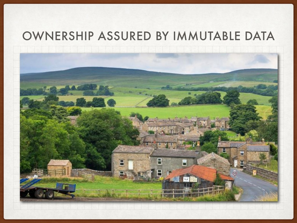 OWNERSHIP ASSURED BY IMMUTABLE DATA