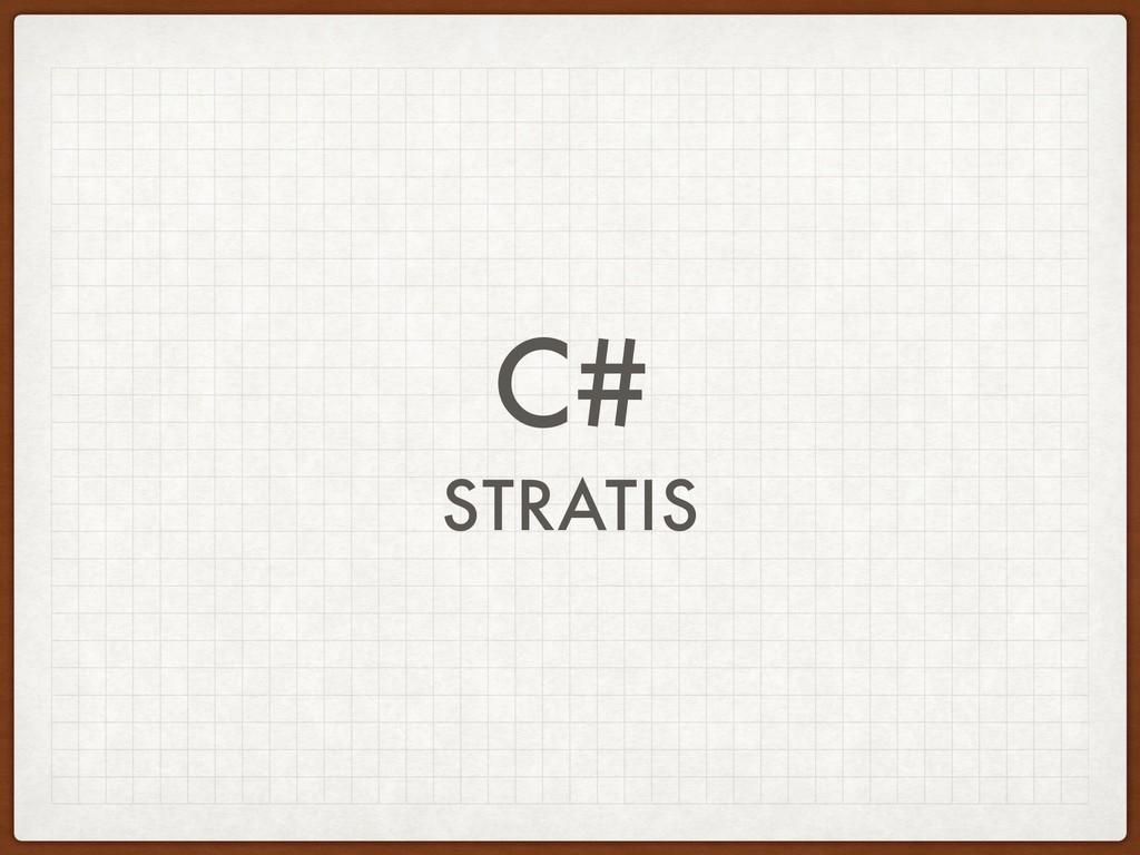 C# STRATIS