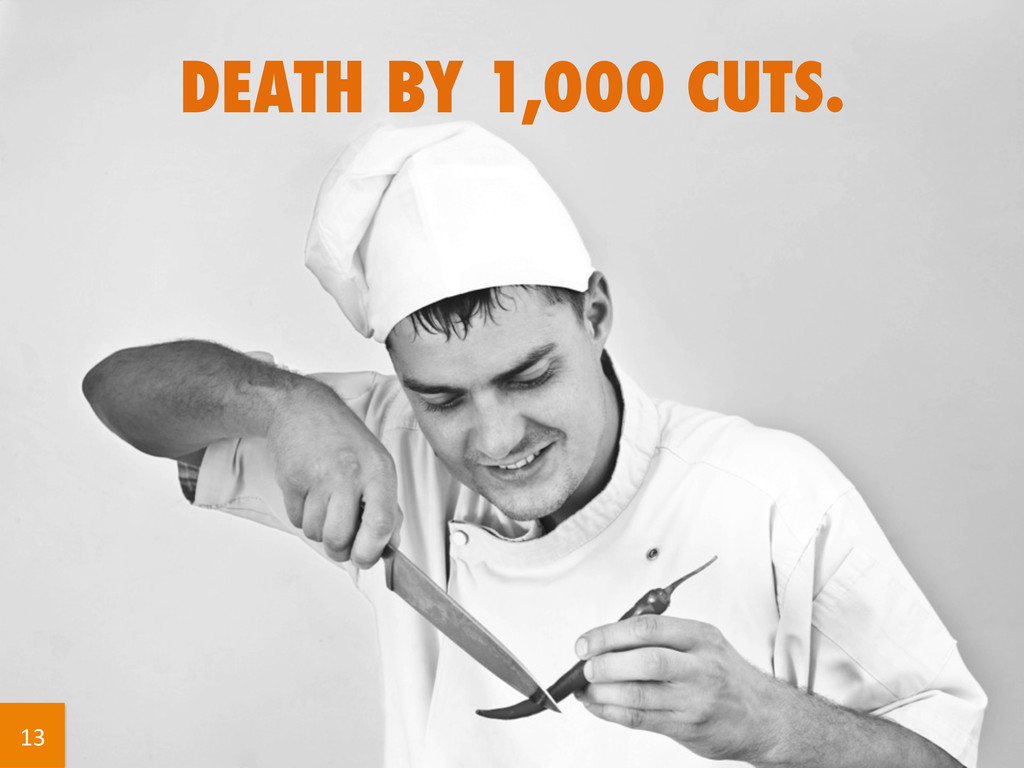 DEATH BY 1,000 CUTS. 13