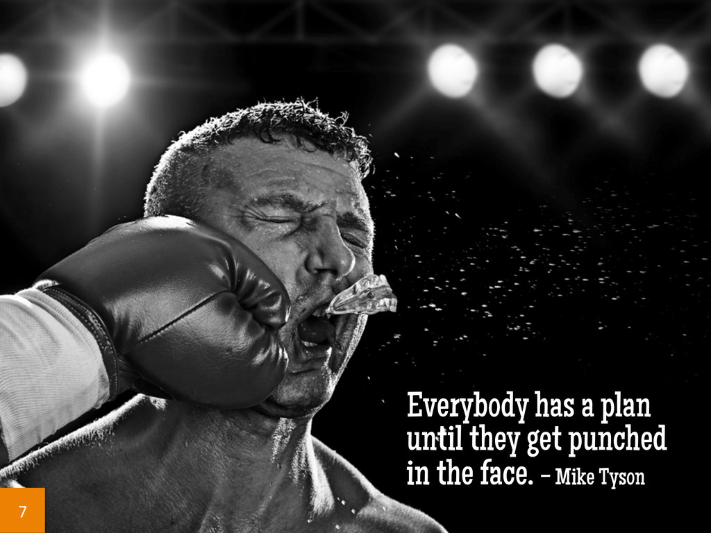 Everybody has a plan until they get punched in ...
