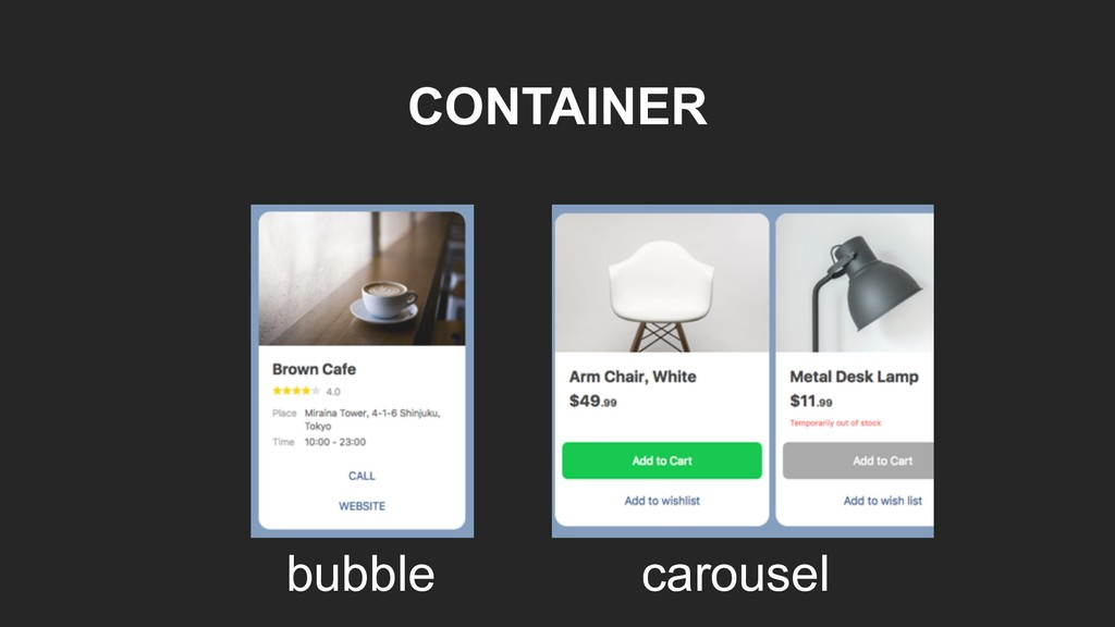 CONTAINER bubble carousel