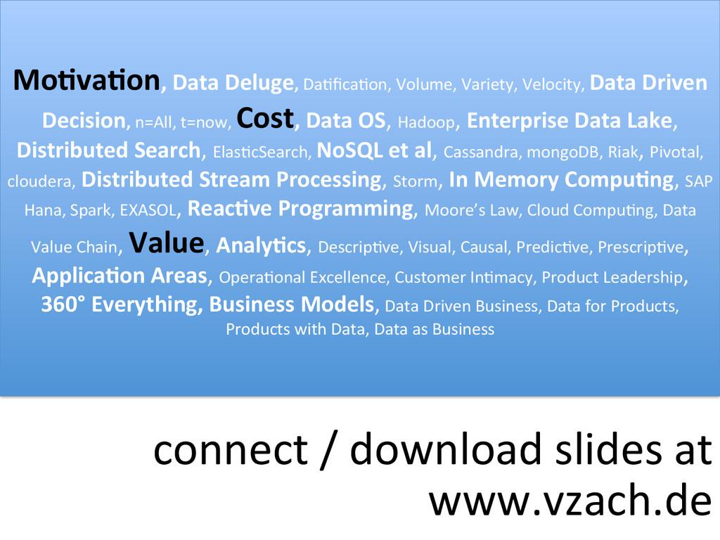 connect#/#download#slides#at# www.vzach.de# Mo-...