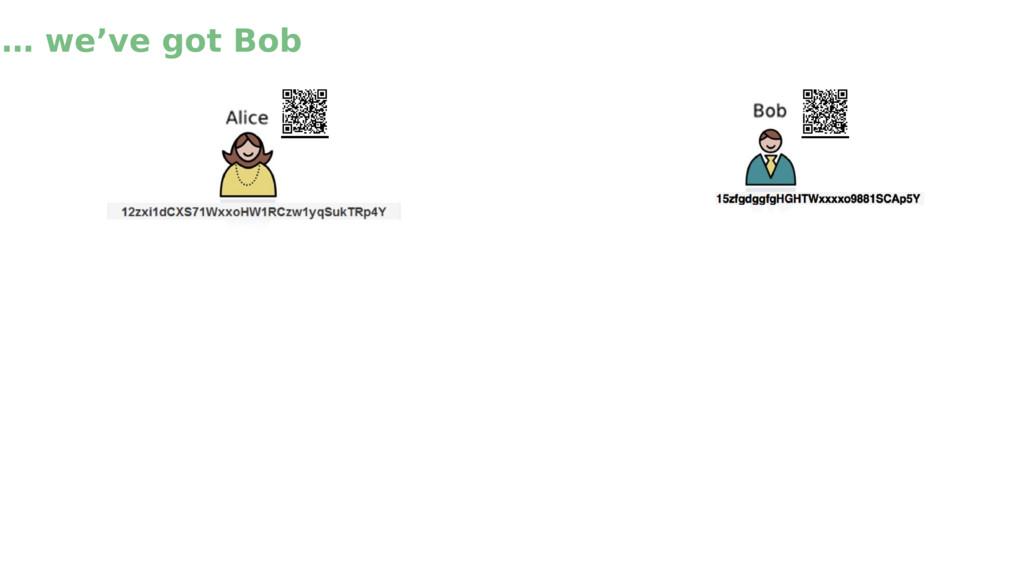 … we've got Bob