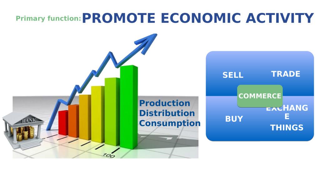 Primary function: PROMOTE ECONOMIC ACTIVITY ! P...