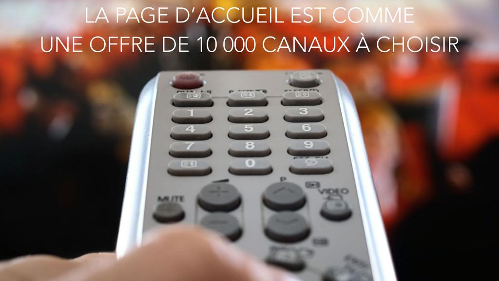 LA PAGE D'ACCUEIL EST COMME UNE OFFRE DE 10 00...