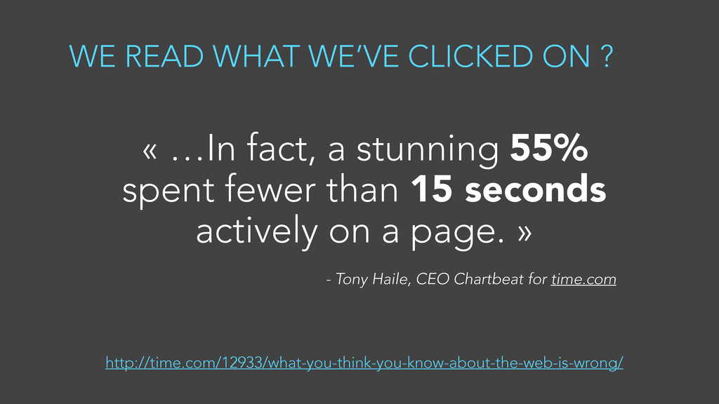 WE READ WHAT WE'VE CLICKED ON ? « …In fact, a s...