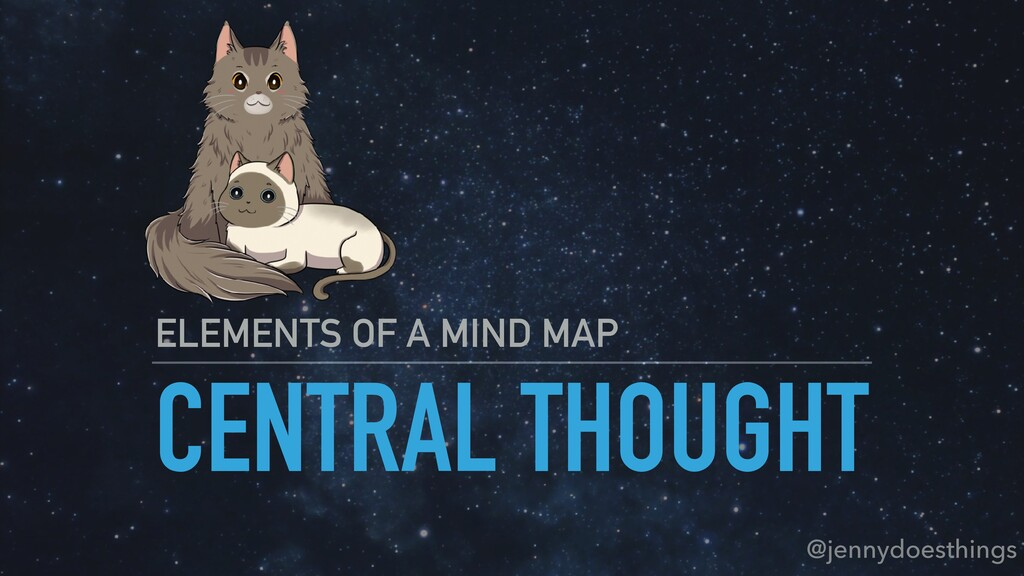 CENTRAL THOUGHT ELEMENTS OF A MIND MAP @jennydo...