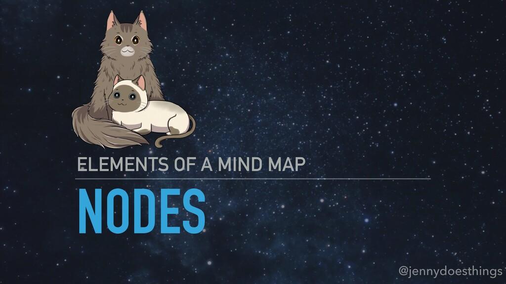 NODES ELEMENTS OF A MIND MAP @jennydoesthings