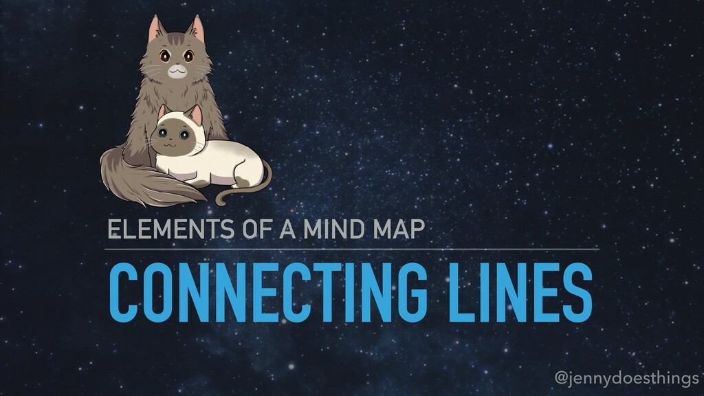 CONNECTING LINES ELEMENTS OF A MIND MAP @jennyd...