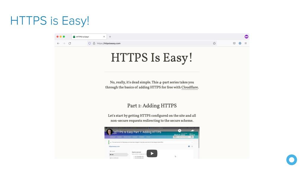 HTTPS is Easy!