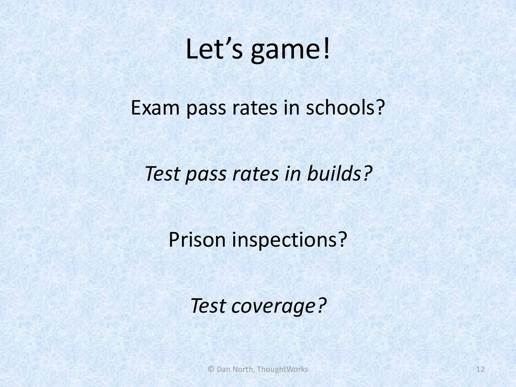 Let's game! Exam pass rates in schools? Test pa...