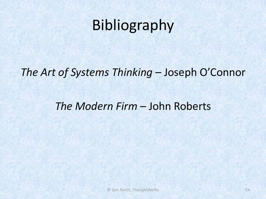 Bibliography The Art of Systems Thinking – Jose...