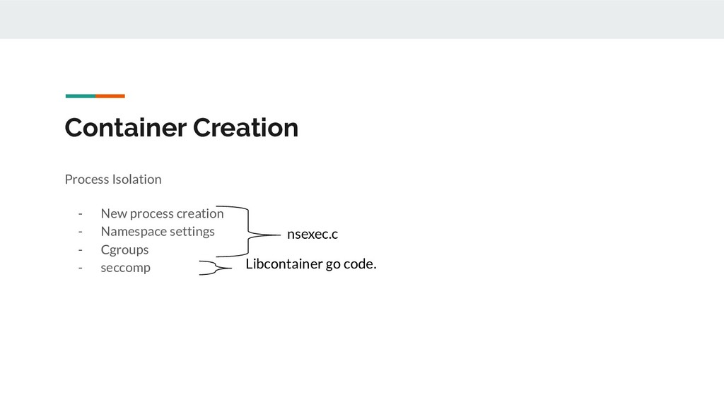 Container Creation Process Isolation - New proc...