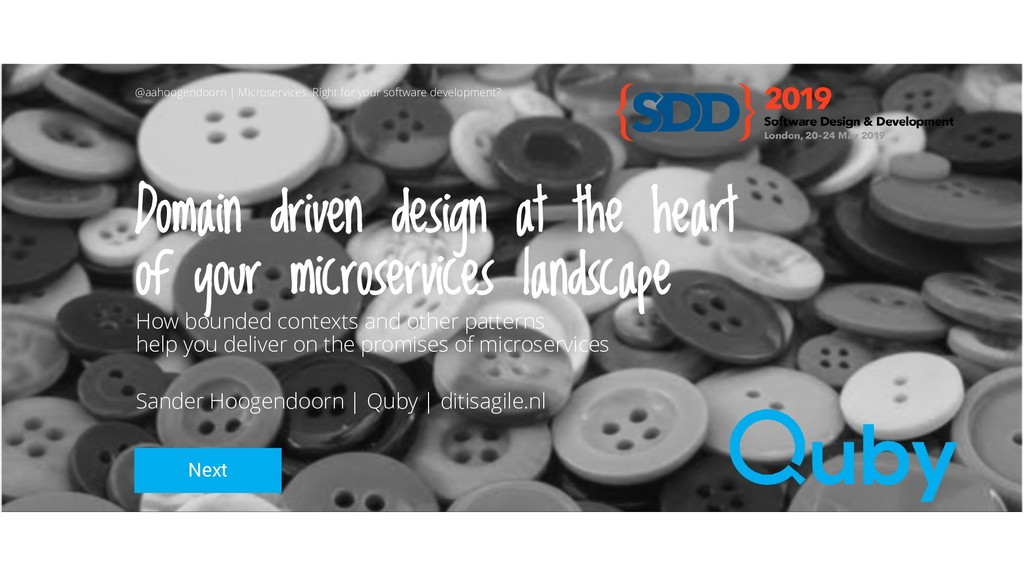 Domain driven design at the heart of your micro...