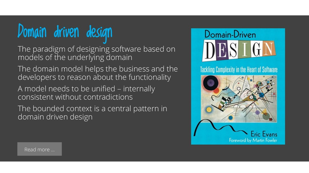 Read more … Domain driven design The paradigm o...