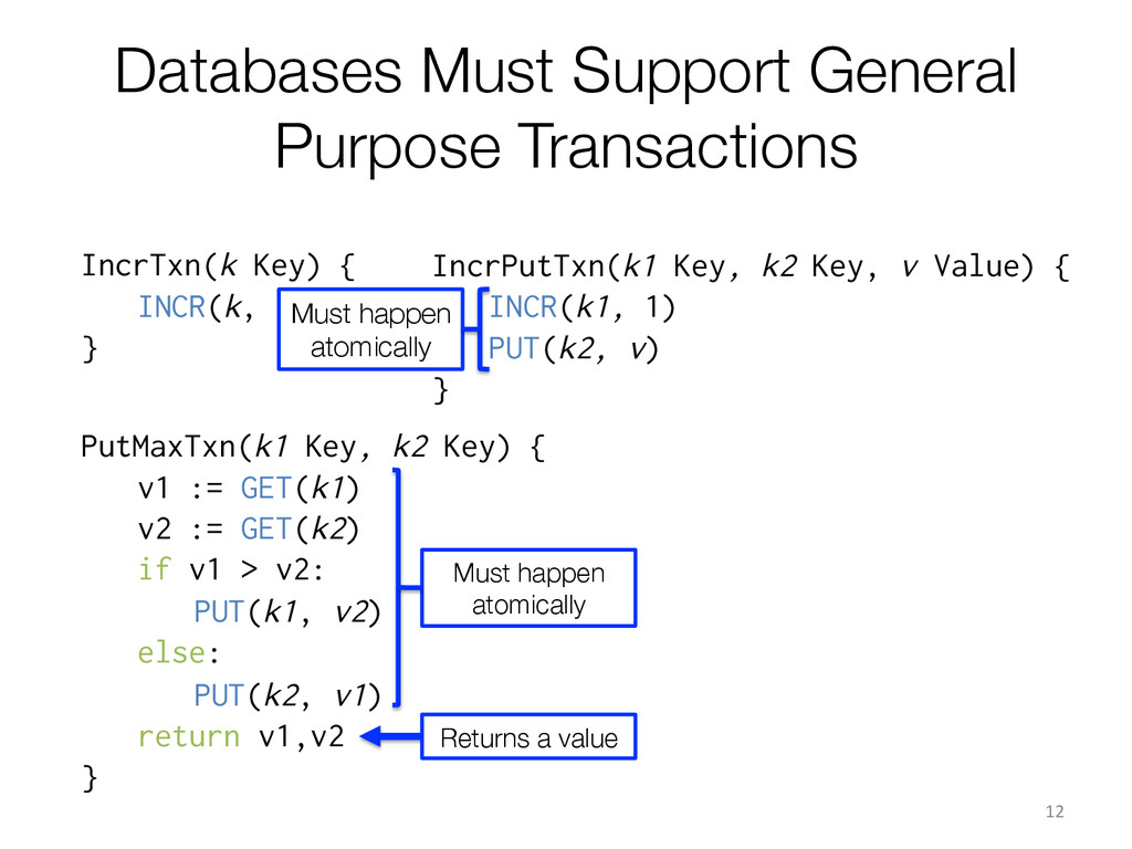 Databases Must Support General Purpose Transact...