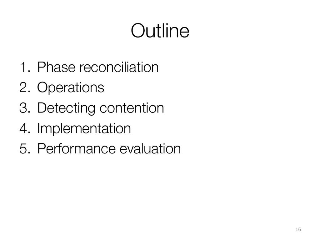 Outline 1. Phase reconciliation 2. Operatio...