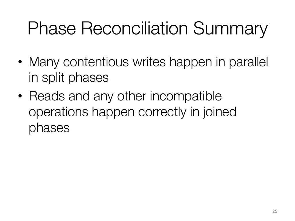 Phase Reconciliation Summary • Many contentio...