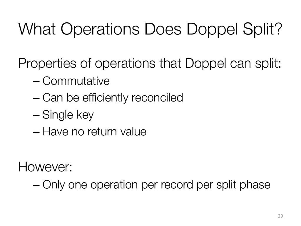 What Operations Does Doppel Split? Properties ...