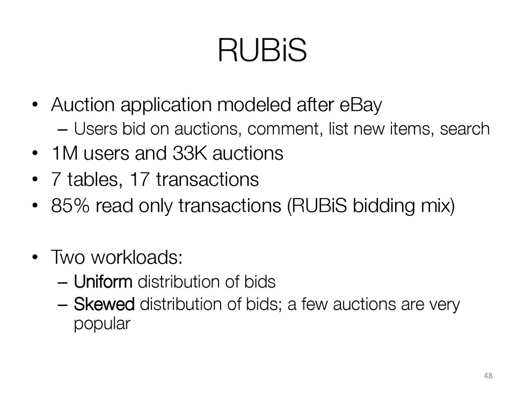 RUBiS • Auction application modeled after eBa...