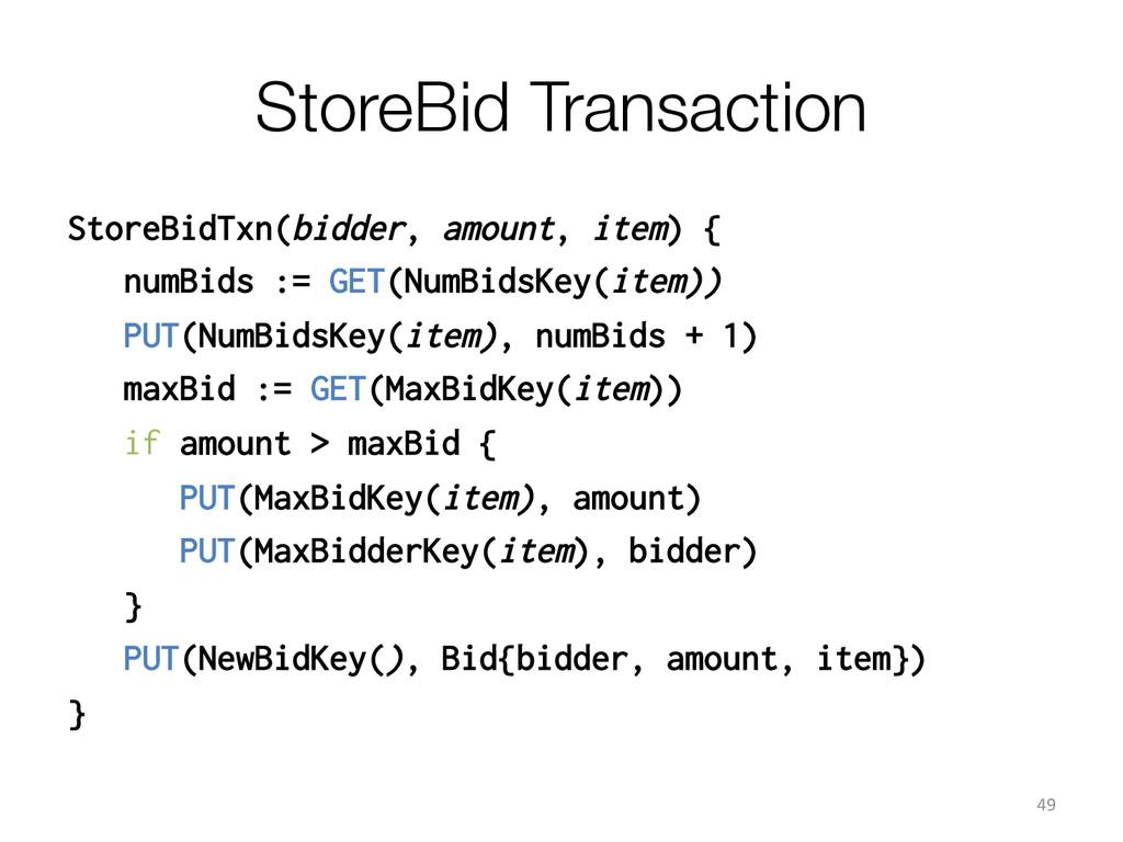 StoreBid Transaction StoreBidTxn(bidder, amoun...
