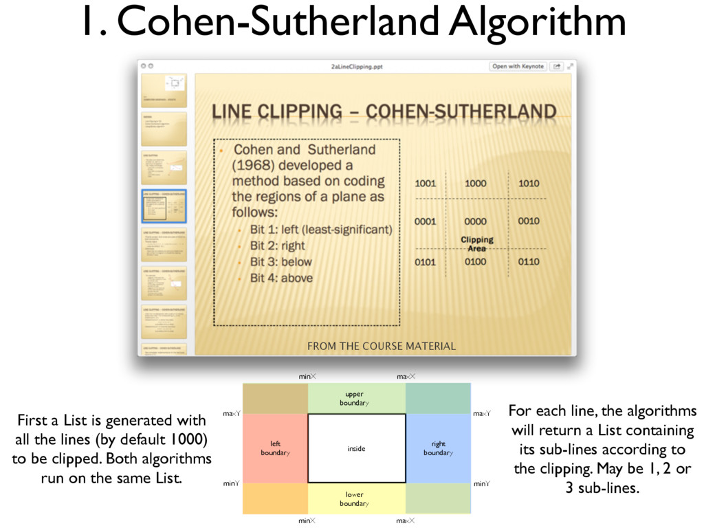 1. Cohen-Sutherland Algorithm FROM THE COURSE M...