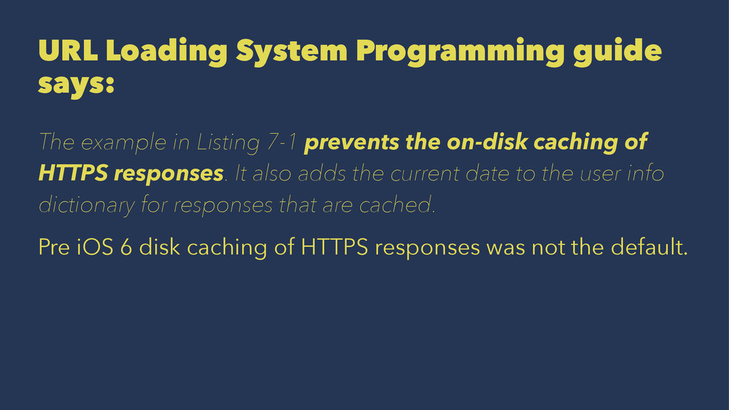 URL Loading System Programming guide says: The ...