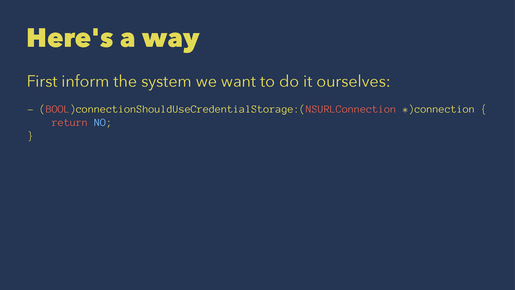 Here's a way First inform the system we want to...