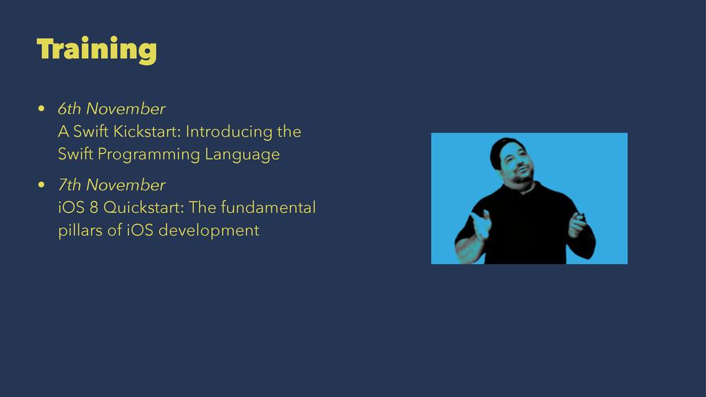 Training • 6th November A Swift Kickstart: Intr...