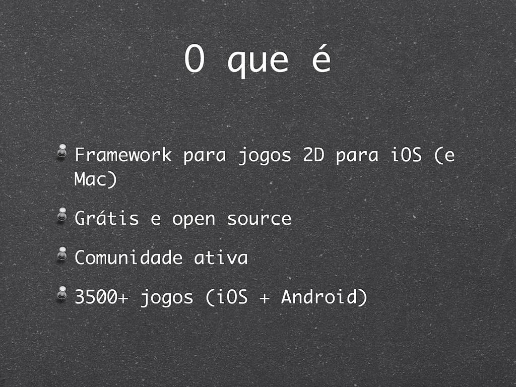 O que é Framework para jogos 2D para iOS (e Mac...