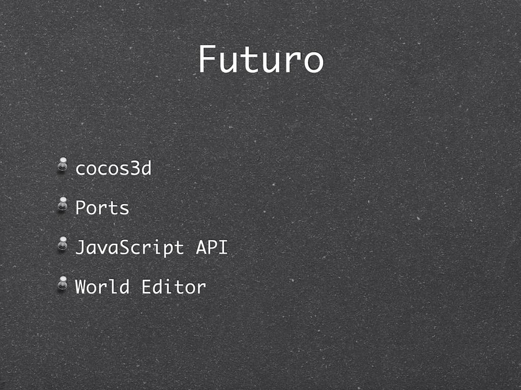 Futuro cocos3d Ports JavaScript API World Editor
