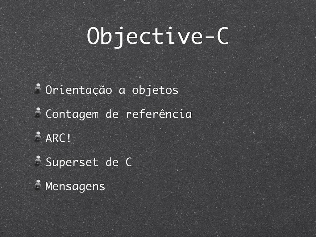 Objective-C Orientação a objetos Contagem de re...