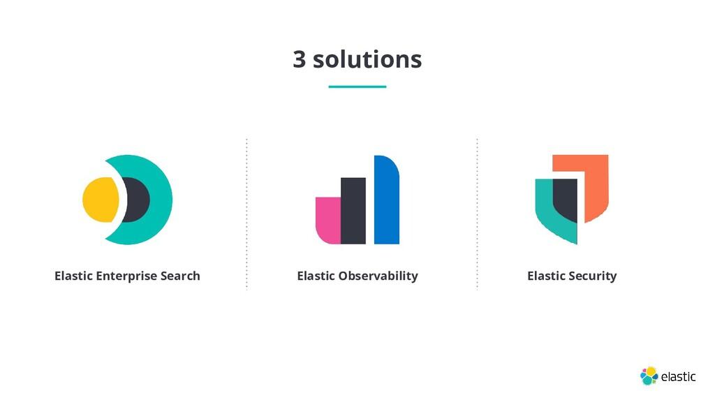 3 solutions Elastic Enterprise Search Elastic S...