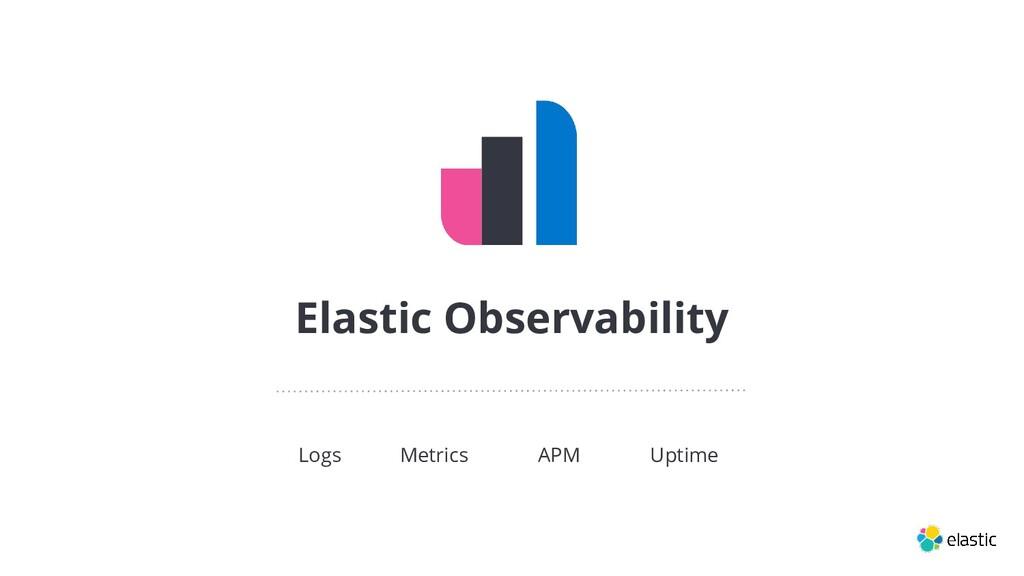 Elastic Observability Logs Metrics APM Uptime
