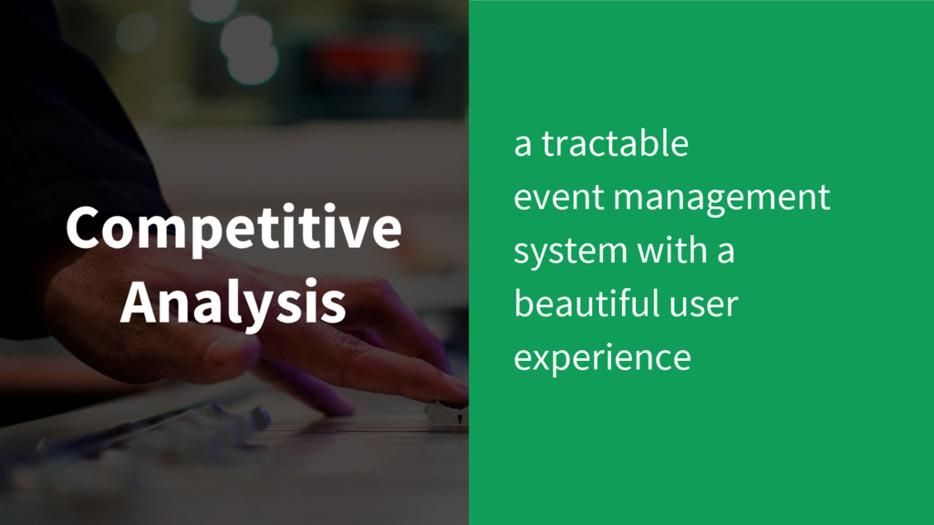 Competitive Analysis a tractable event manageme...