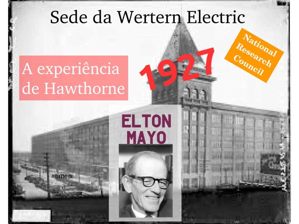 EEEFM João Úrsulo A experiência de Hawthorne 19...