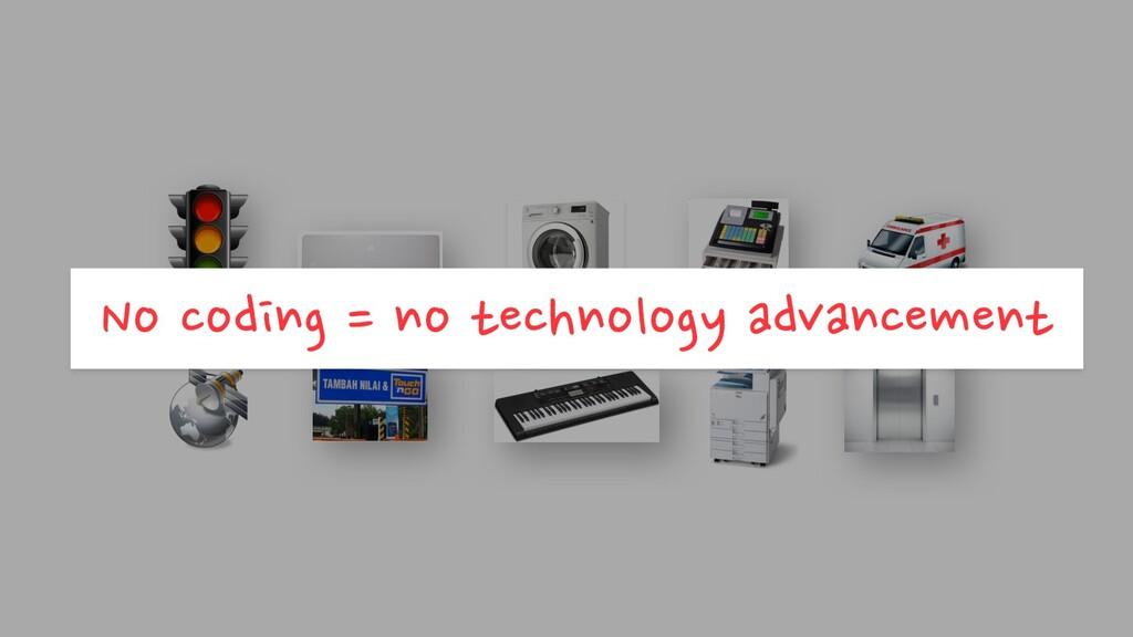 No coding = no technology advancement
