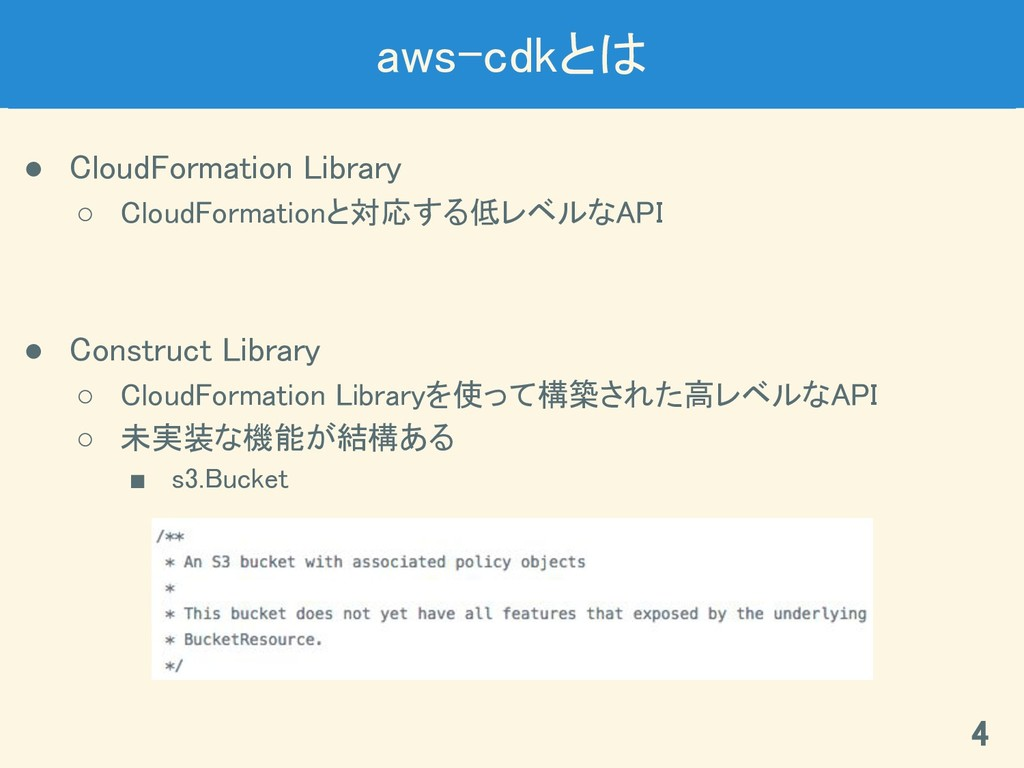 aws-cdkとは ● CloudFormation Library ○ CloudForma...
