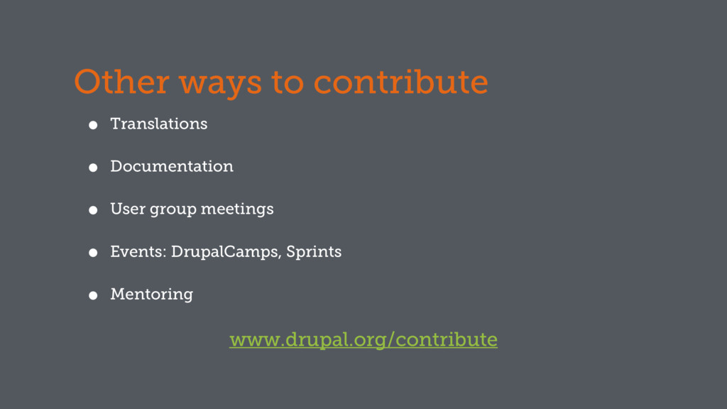 Other ways to contribute • Translations • Docum...