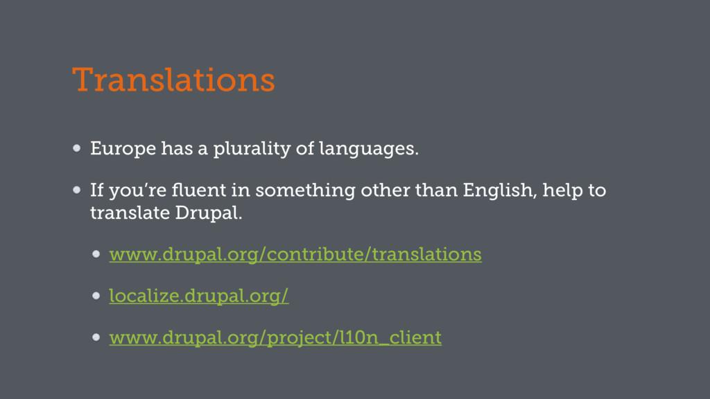 Translations Europe has a plurality of language...