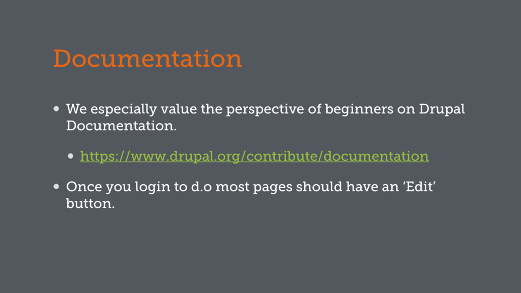Documentation We especially value the perspecti...