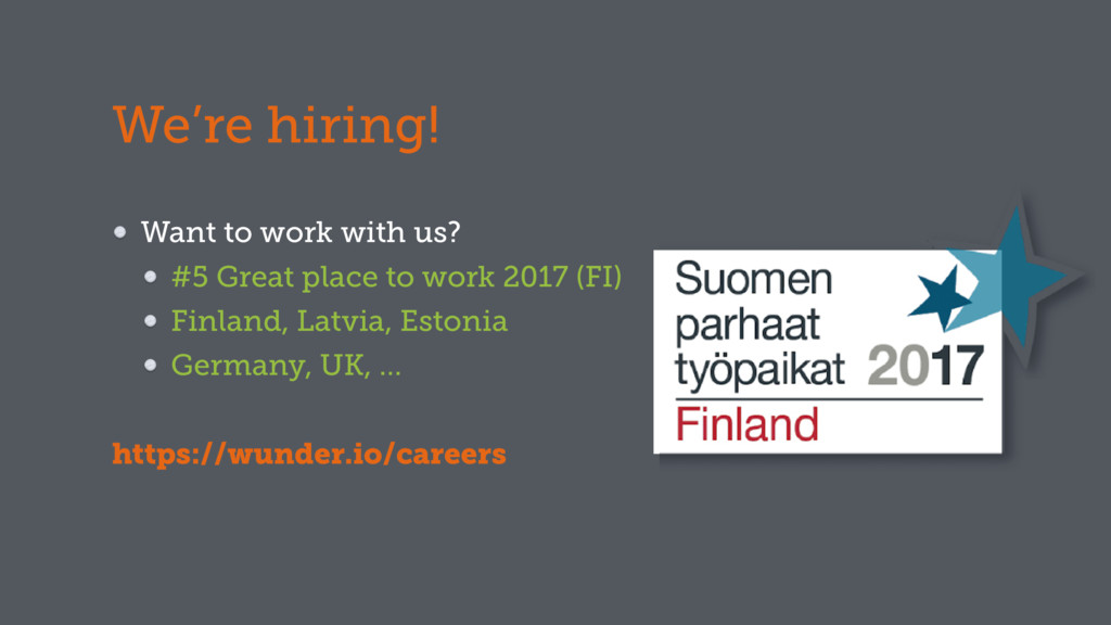 We're hiring! Want to work with us? #5 Great pl...