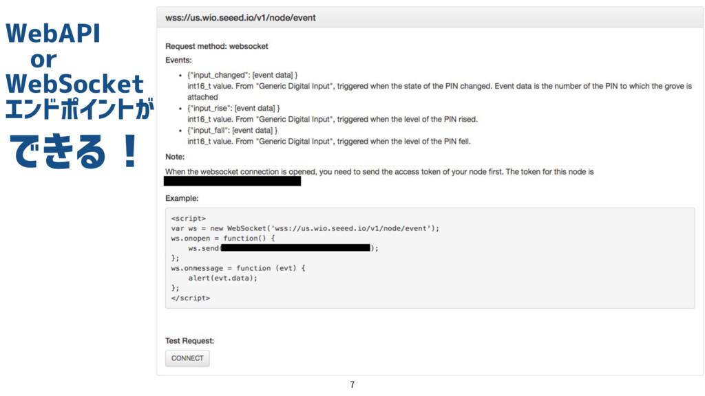 WebAPI  or WebSocket エンドポイントが  できる!