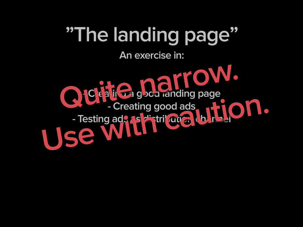 """The landing page"" An exercise in: ! ! - Creati..."