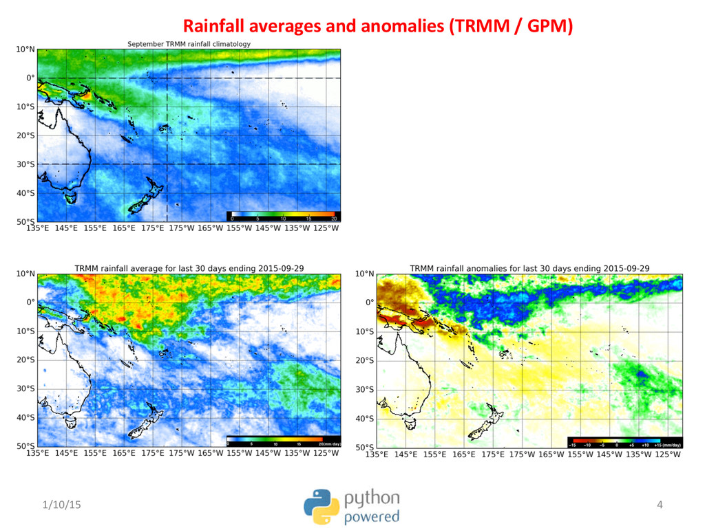 Rainfall averages and anomalies (TR...