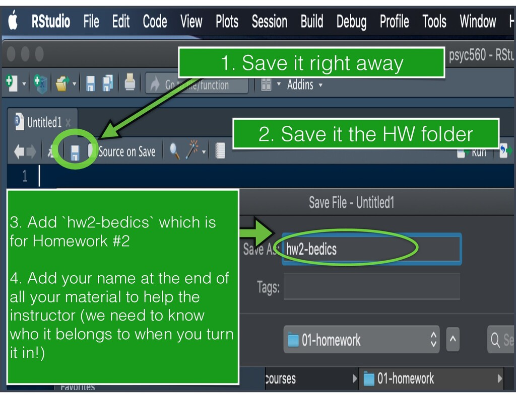 1. Save it right away 3. Add `hw2-bedics` which...