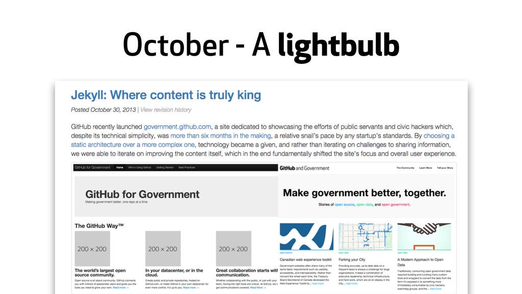 October - A lightbulb